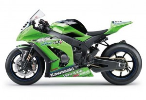 2011 Ninja ZX10R race bike on track