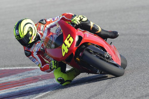Rossi and the GP11 at Misano