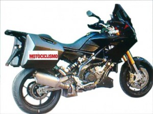 Aprilia Caponord spy photo
