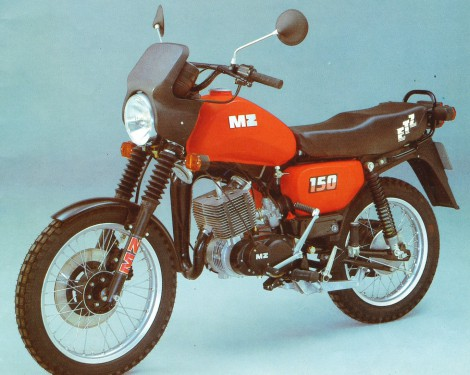 The Eastern's youngsters favourite, the MZ ETZ 150