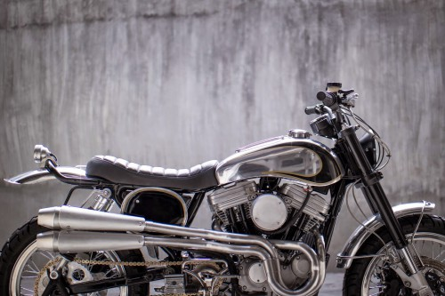 The bike was born in 1999 as a Harley Sportster