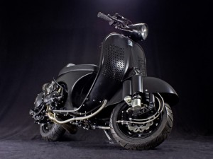 Possibly the world's most powerful vintage Vespa