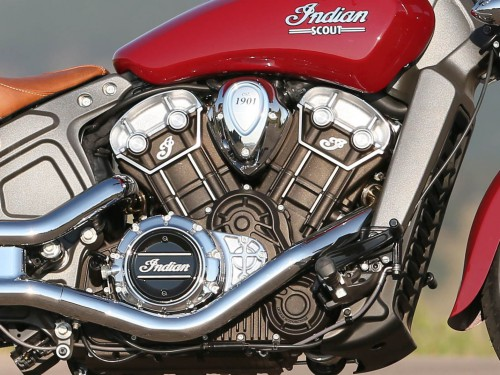 The Indian Scout's V-Twin