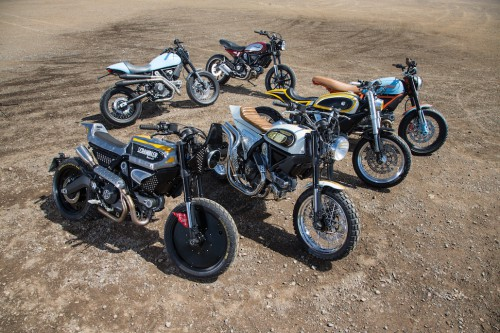 Custom Scramblers at the Shed