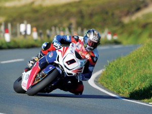 John McGuinness' on his Honda Fireblade