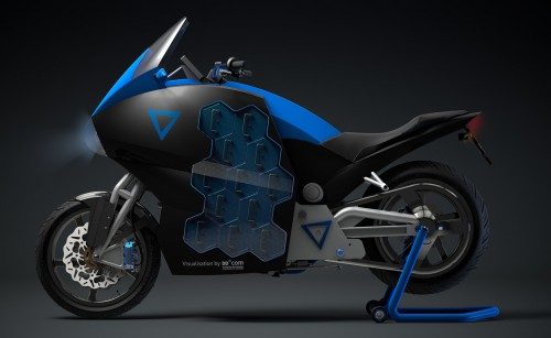Storm- the first ever electric  touring motorcycle