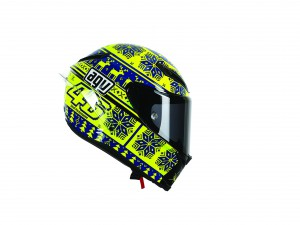 The special Rossi Corsa AGC helmet