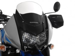 Headlight metal mesh protector by Touratech