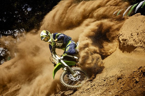 The 2015 KX450F in action