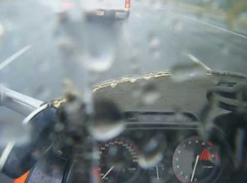Looks familiar? Rain is not good for visibility