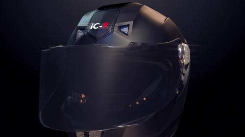 iC-R features an e-tint visor