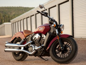 2016 Indian Scout ABS in red Indian Scout ABS in red