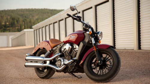 2016 Indian Scout ABS in red