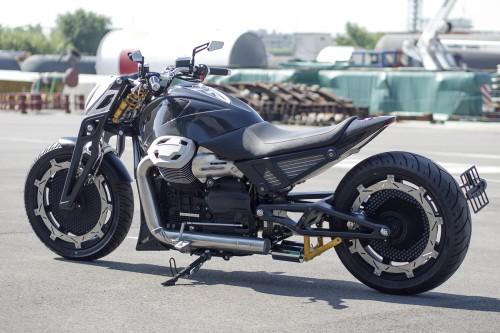 Probably the most futuristic custom Moto Guzzi California out there