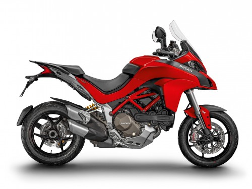 The Multistrada 1200S looks good in red